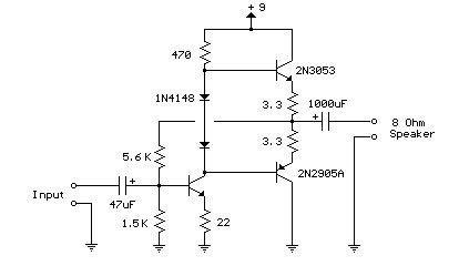 transistor lifier for radio 3 transistor audio 50 milliwatt circuit diagram world