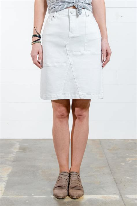 go fish clothing white denim skirt from florida by go fish