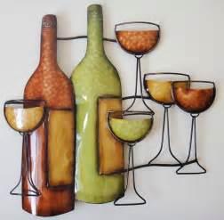 new contemporary metal wall decor sculpture wine