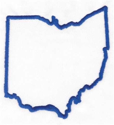 Ohio State Logo Outline by Ohio State Map Clip 19