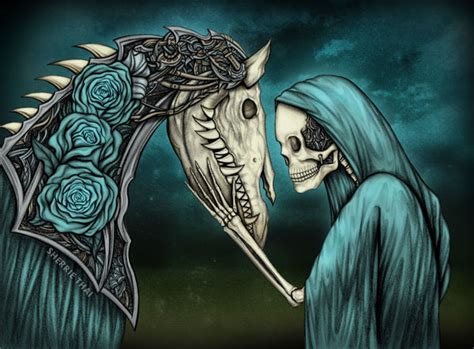artwork momento mori gothic skeleton amp horse art