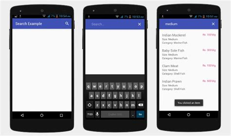 android view android search view with php and mysql