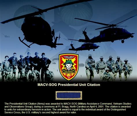 sog us army presidential unit citation award macv sog us army