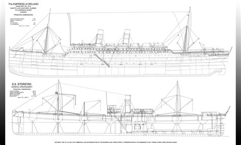 Floor Plan Online Free ss storstad and empress of ireland rigging plan poster