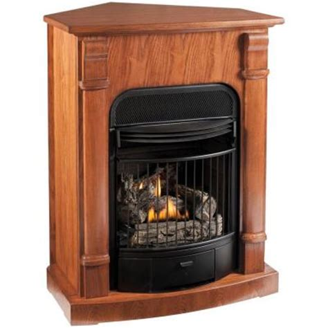 procom 29 in. convertible vent free propane gas fireplace