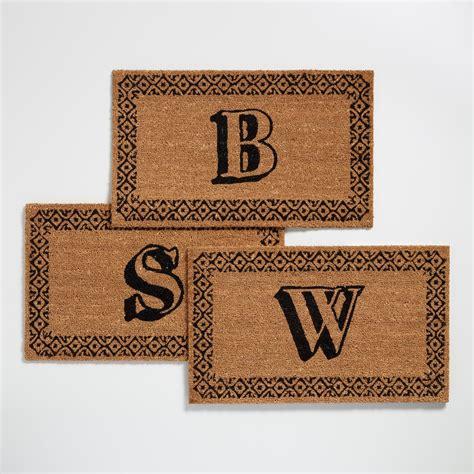 Monogram Doormat monogram coir doormat collection world market
