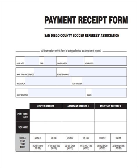 application fee receipt template 42 free receipt forms