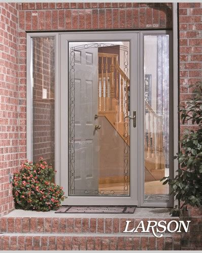 Adding Glass To Front Door Adding A Larson Door With Decorative Glass Detailing Is A And Easy Way To Update