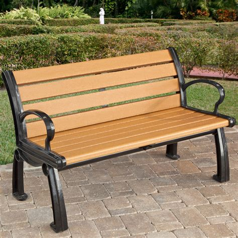 park bench stony brook furniture park benches with plastics commercial recycled