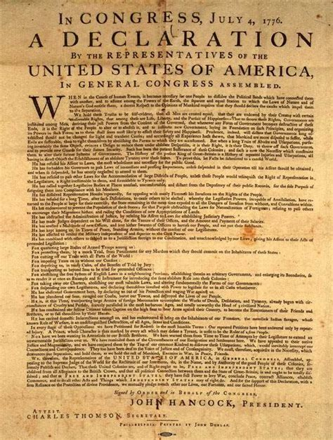 written sections of the declaration of independence was the declaration of independence written on hemp