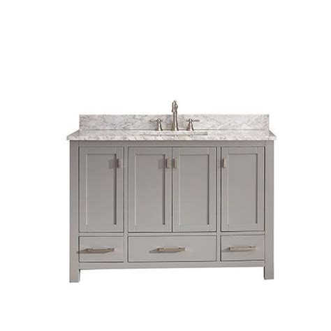 48 inch bathroom vanity with top avanity modero chilled gray 48 inch vanity combo with