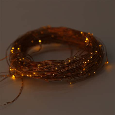 Solar Powered Warm White 20m 200led Copper Wire Outdoor Solar Powered Lights Warm White
