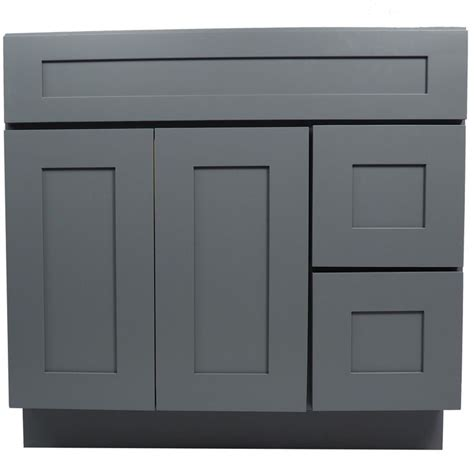 36 inch bathroom cabinet 36 inch gray shaker single sink bathroom vanity cabinet l 36 inch bathroom vanity