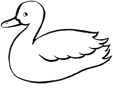 Duck Outline Printable by Duck Outline Coloring Home