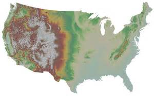 united states elevation map