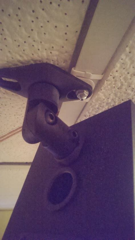 mounting speakers  drop ceiling cross bar hometheater