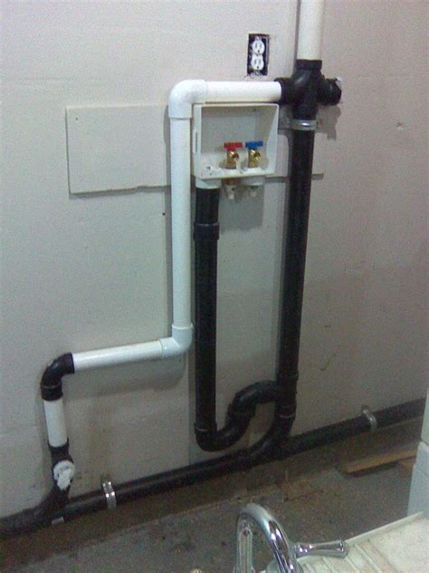 Plumbing Box by How Dwv On Garage Wall For Sink Washer Sink Pictures