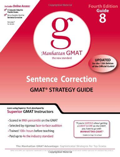 Sentence Correction Mba Cet by Sentence Correction Gmat Preparation Guide 4th Edition 8