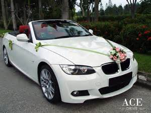 bmw 320i cabriolet wedding car decorations