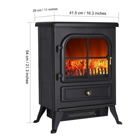 new portable1850w electric fireplace heater wood burning