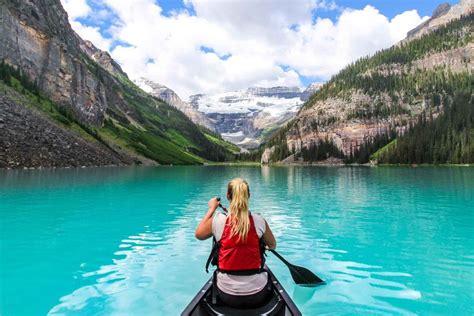 paddle boat rentals calgary canoeing kayaking in banff ab banff lake louise tourism