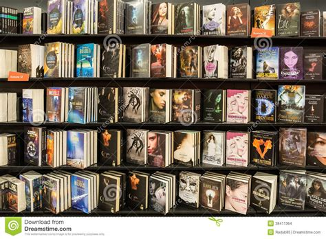 contemporary novels modern novels books in library editorial stock image