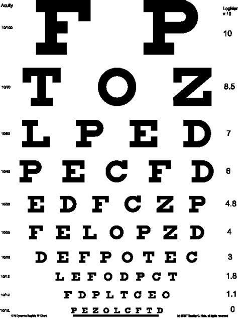 printable eye chart pdf die dynamic illegible e test