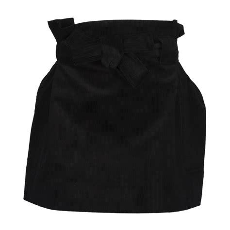 Tie Waist A Line Skirt maison kitsun 201 a line tie waist skirt in black modesens