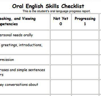Ell Progress Report Template Assessment Understanding An Language