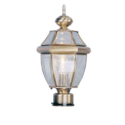 antique outdoor lighting livex lighting providence 1 light outdoor antique brass