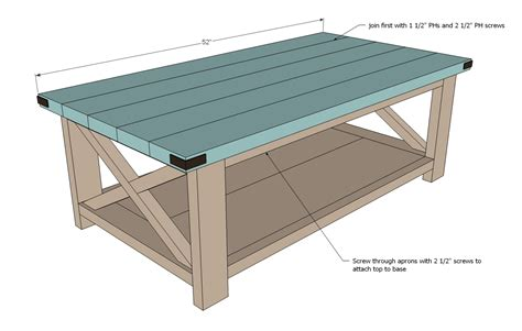 How To Build A Simple Coffee Table Build A Rustic X Coffee Table With Free Easy Plans Home Design Garden Architecture