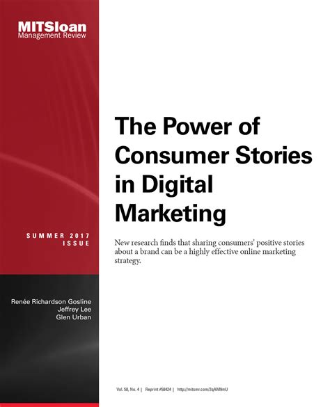 The Power Of Digital Marketing the power of consumer stories in digital marketing mit smr store