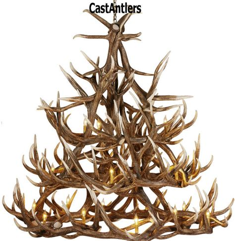 Moose Antler Chandelier Antler Chandeliers Elk 30 Cast Antler Chandelier Rustic Lighting And Decor From Castantlers