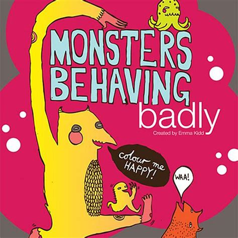 behaving badly books monsters behaving badly colouring book design
