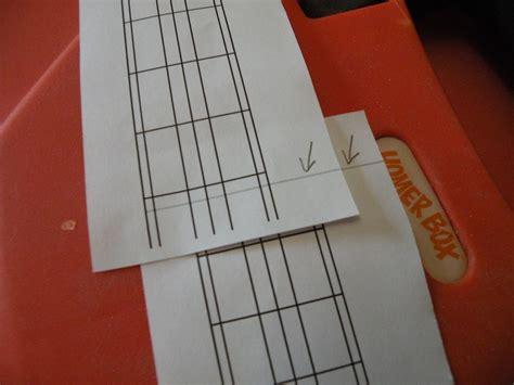 fret scale template fret calculator tutorial electric ukulele land