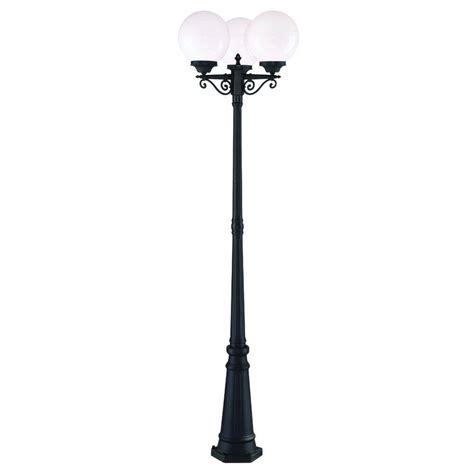Outdoor 3 Light L Post Acclaim Lighting 3 3 Light Matte Black Outdoor Post Light Combination 5269bk Wh