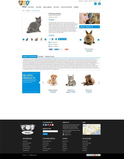 petshop volusion design template premium template
