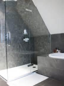 Slanted ceiling shower houzz