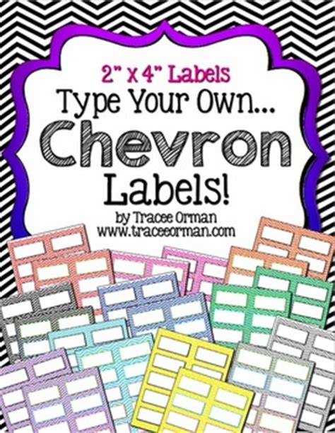 Labels Chevron Editable 2x4 Avery 5163 By Tracee Orman Tpt 2x4 Label Template Avery