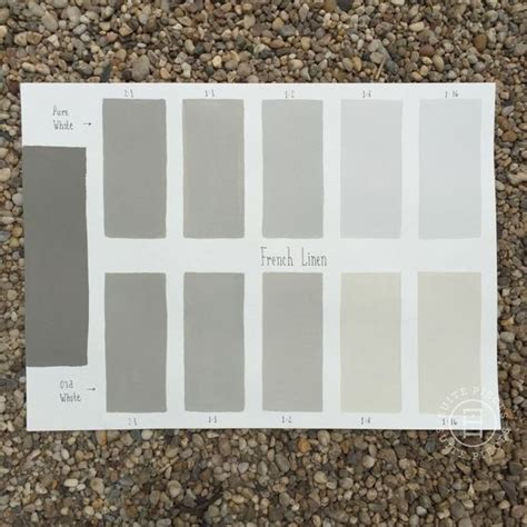 chalk paint 174 linen custom color chart using white and white read more on our