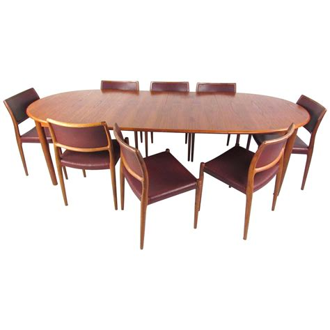mid century modern dining table set mid century modern teak dining set with model 80 n