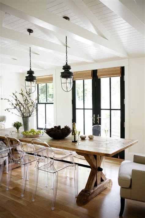 Dining Room Parsons Chairs Farmhouse Outdoor Lighting Porch Farmhouse With Painted