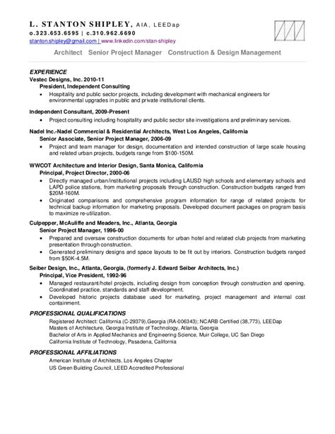 Projects On Resume by Stan Shipley Resume Projects 11mr18