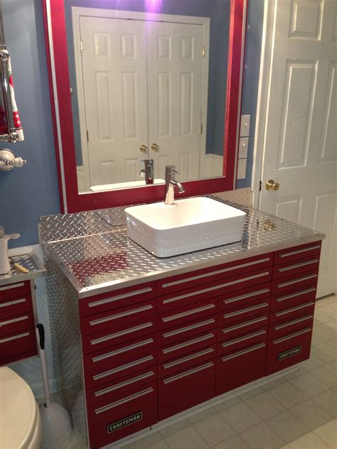 garage bathroom ideas craftsman tool box vanity with vessel sink unique