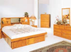 Oak King Platform Bed With Drawers Waterbed Hb Or With Waterbed Cal King