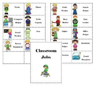 printable job labels classroom jobs free printable classroom management