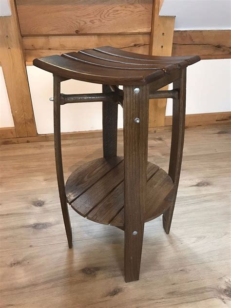 Handcrafted Bar Stools - handcrafted oak barrel bar stool varnish treated