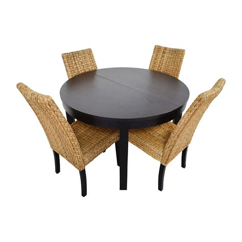 Dining Table With Black Chairs 66 Macy S Ikea Black Dining Table Set With Four Chairs Tables
