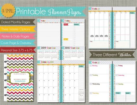printable calendar small size 2014 x small personal size printable planner pages