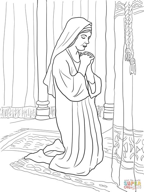 hannah prays for a son coloring page free printable